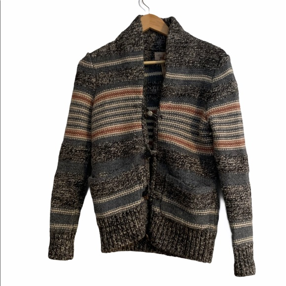 WILFRED FREE WOOL KNIT CARDIGAN BUTTON UP
